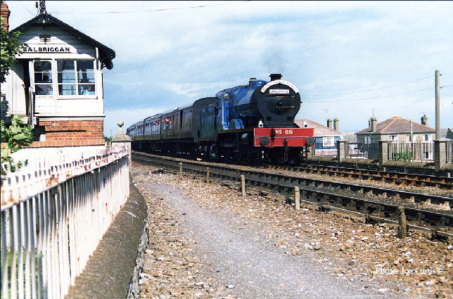 No 85 rattles through Balbriggan at speed 1987